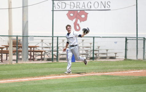 A. Mundy ('19) skips around the field after bashing his last home run last season.