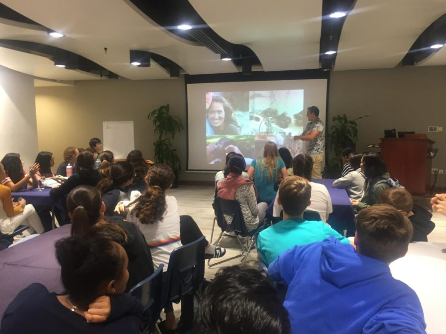 Founder of World Volunteer visits ASD Grade 8 learning service students