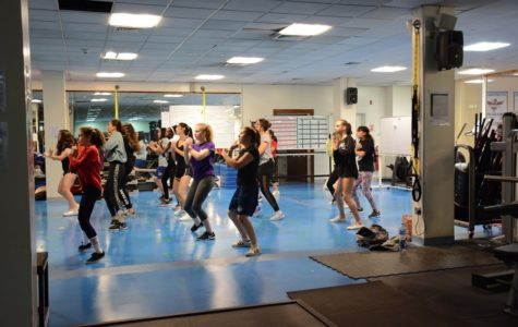 The Dance Team practicing Monday after school.