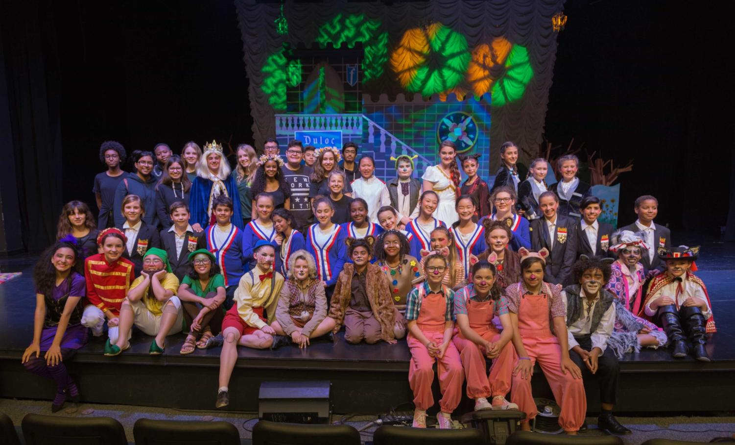 The entire cast of Shrek Jr. obviously enjoyed the experience of bringing to life the whimsical anti-fairy tale story through acting, song and dance.