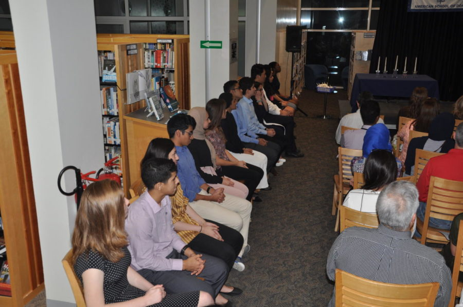 NHS Inductions on October 10th took place in the library. Parents, staff, and teachers all came to celebrate.