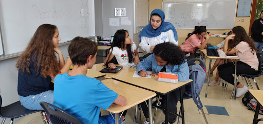 At the second official meeting for the Equality for Palestinians service club, members were split into groups and wrote notes about ideas for their new group.