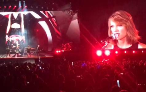 Taylor Swift performing in Santa Clara, CA.