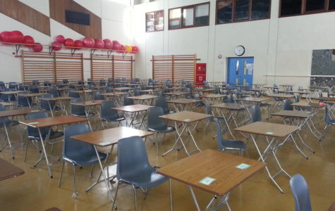 Exam halls much like this one are a common sight across many schools, abroad or domestic. Many ASD high school students will sit the March formal assessments in a similar venue, the gymnasiums.