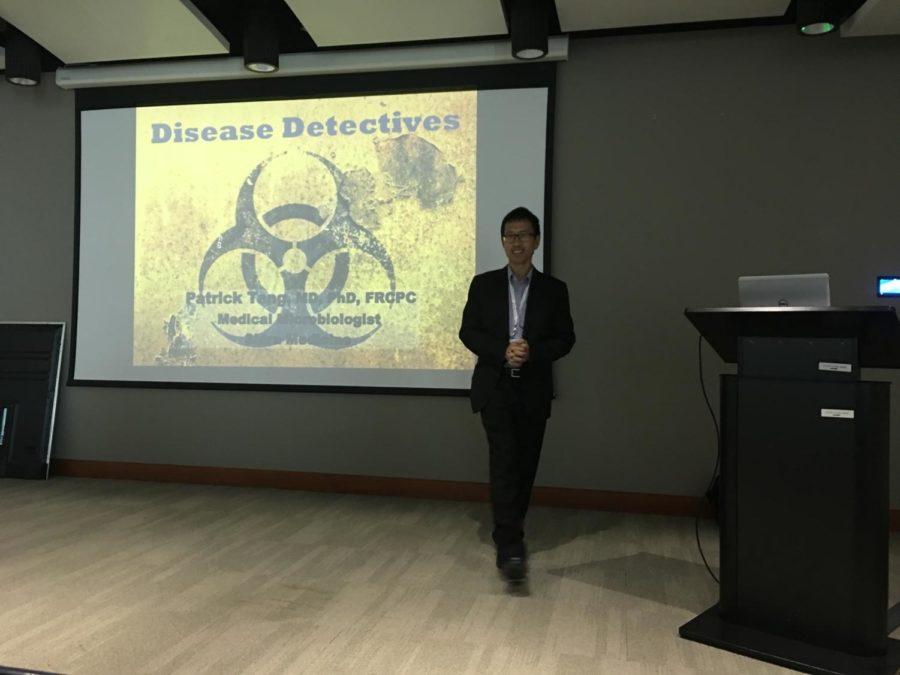 Dr. Tang starts his presentation.