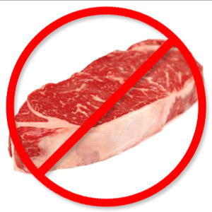 Image result for NO RED MEAT