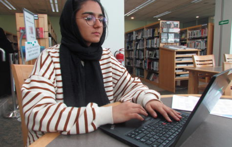 The MS/HS Library is a popular place for AP and IB students to study for their exams, and during Ramadan, no one may eat in public spaces, so many Muslims spend their lunch times outside the cafeteria.