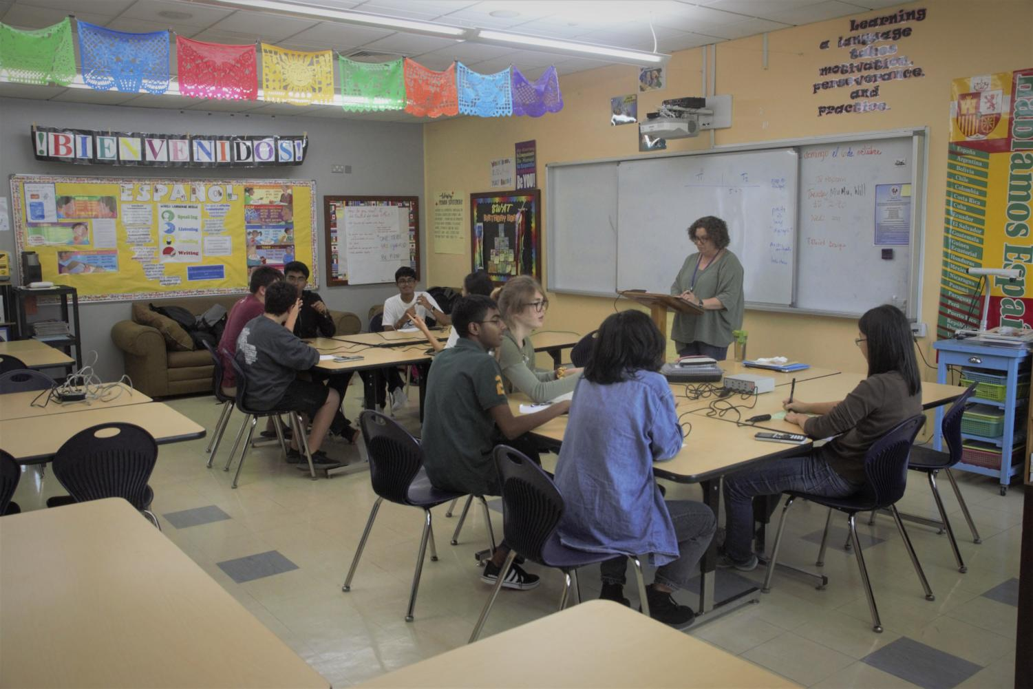 The ASD JV Academics Games team practices most days after school, sharpening their question-answering and buzzer-buzzing skills in a spirit of healthy academic competition.