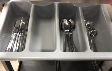 Continuing utensil shortages challenge cafeteria visitors, food providers