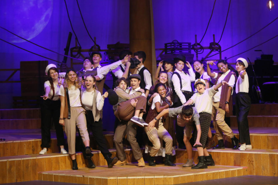 "The entire cast of The Old Man and the Old Moon! Multiple cast members stated that this image is the perfect definition of the stereotypical term ""theatre kids""."