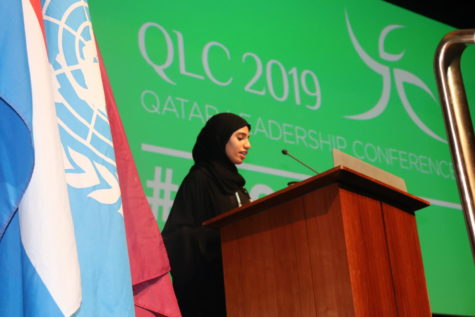 Secretary-General of the conference, Alanoud H. Al Thani, delivers a moving opening speech to kick start the conference.