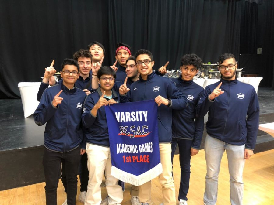 The varsity teams celebrated their overall win.
