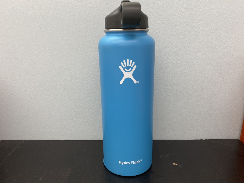 My light blue 40 oz. Hydro Flask keeps my water super cold for hours and hours. Definitely a worthwhile accessory, even for non-VSCO types.