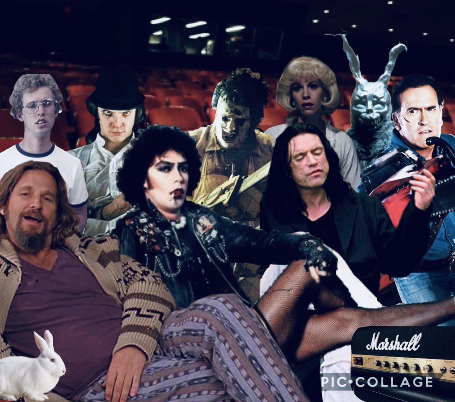 Cult Classic Icons sitting in a movie theatre