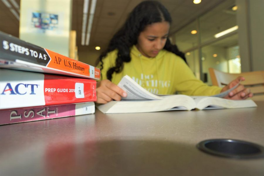 Students stress over exams as they struggle to study with their rigorous coursework.
