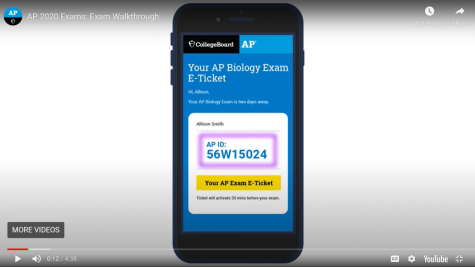 College Board produced scores of video tutorials to help students navigate the dramatically changed Advanced Placement exams this year. Students were sent an  e-ticket two days before their exam, as this video demonstrates.