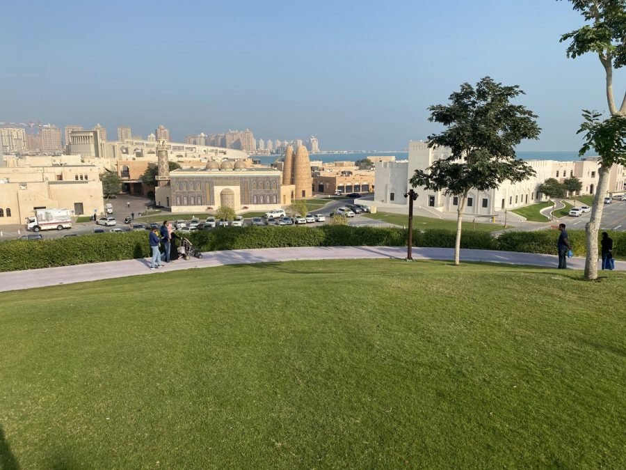 View from the Katara Park which overlooks the gorgeous cultural center